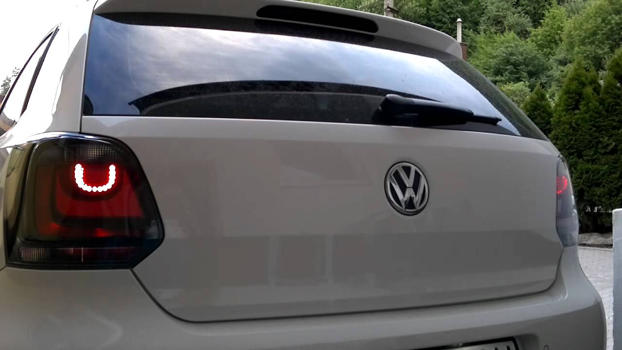vw polo 6r tsi taillights led youtube. Black Bedroom Furniture Sets. Home Design Ideas