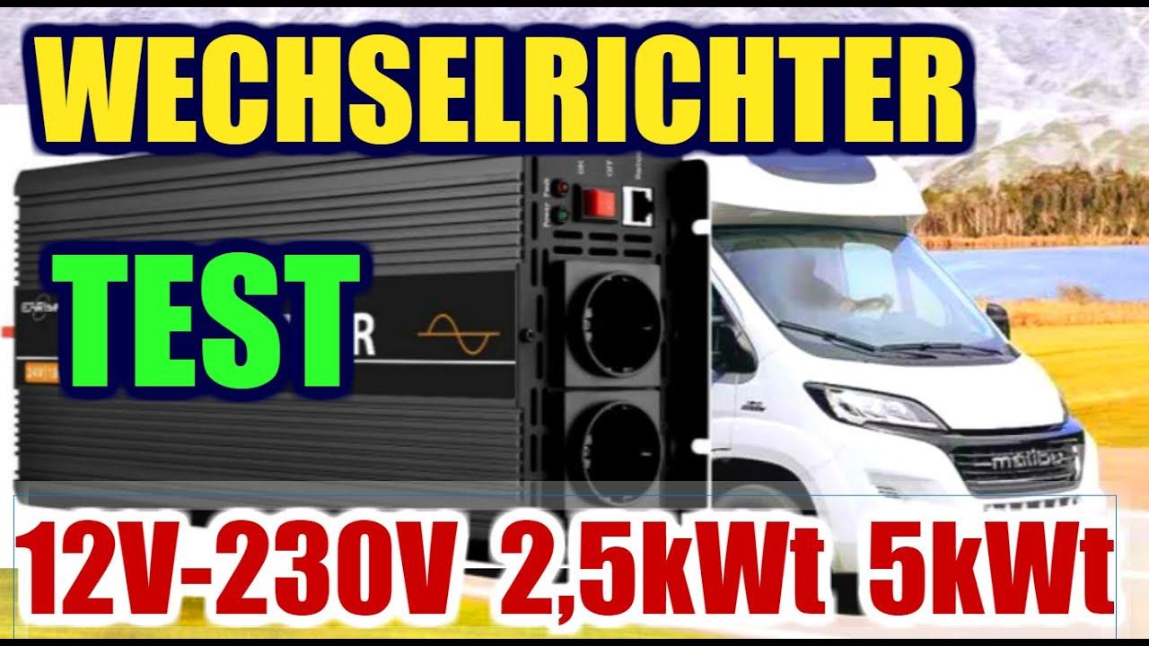8V 8V Wechselrichter 8,8kWt Test für Wohnmobil, Wohnwagen, Solaranlage  oder Balkonkraftwerk