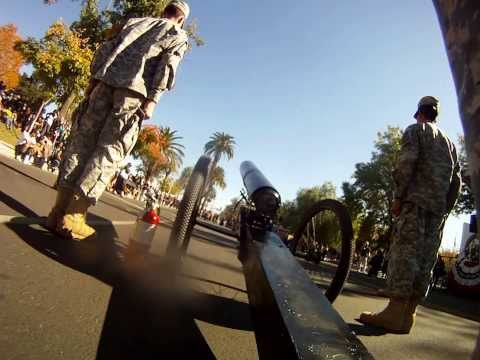 Perris High School JROTC Cannon Team @ 2013 Veterans Day Parade