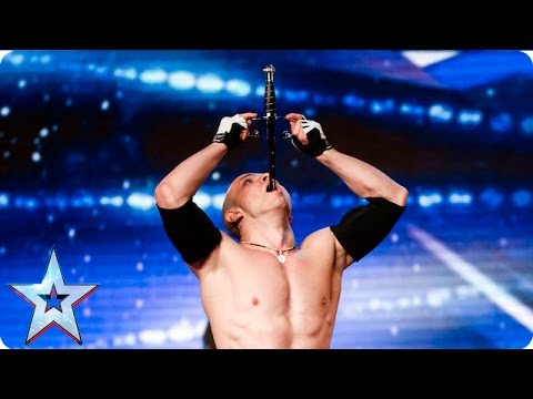 Видео: Alexandr Magala risks his life on the BGT stage  Week 1 Auditions  Britains Got Talent 2016