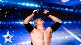 Alexandr Magala risks his life on the BGT stage | Week 1 Auditions | Britain's Got Talent 2016