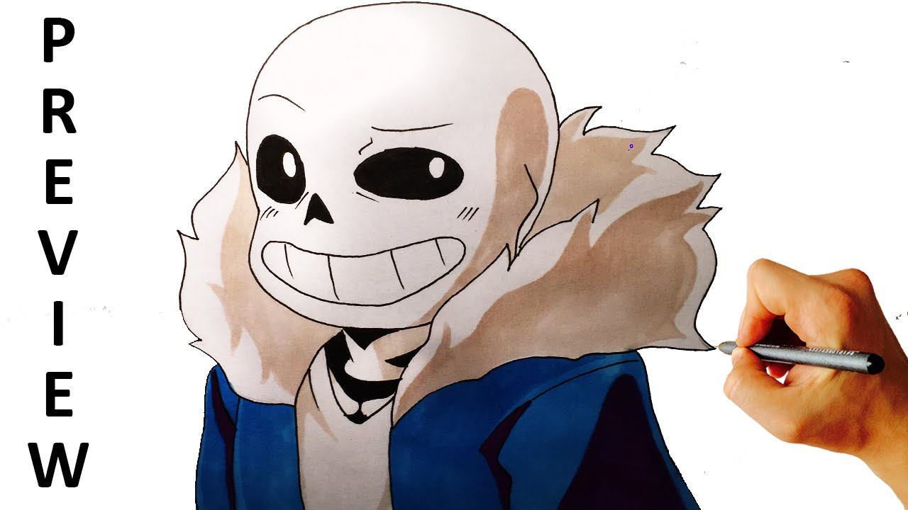 How To Draw Sans From Undertale Easy Step By Step Drawing Preview