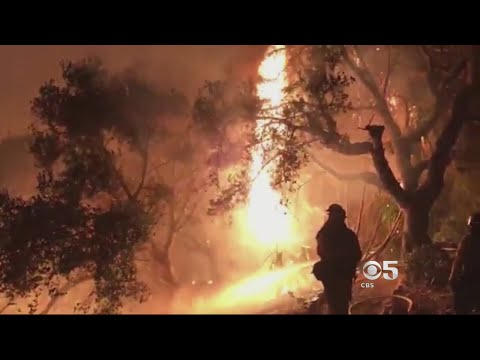 Thomas Fire Grows Into Santa Barbara County