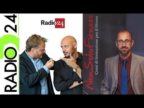Fitness dopo i 40 anni, dipendenza da attività fisica e vigoressia, ospite di Radio 24