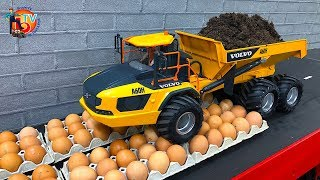 BRUDER EXPERIMENT - RC TRUCK  vs. EGGs  | Survive the eggs?