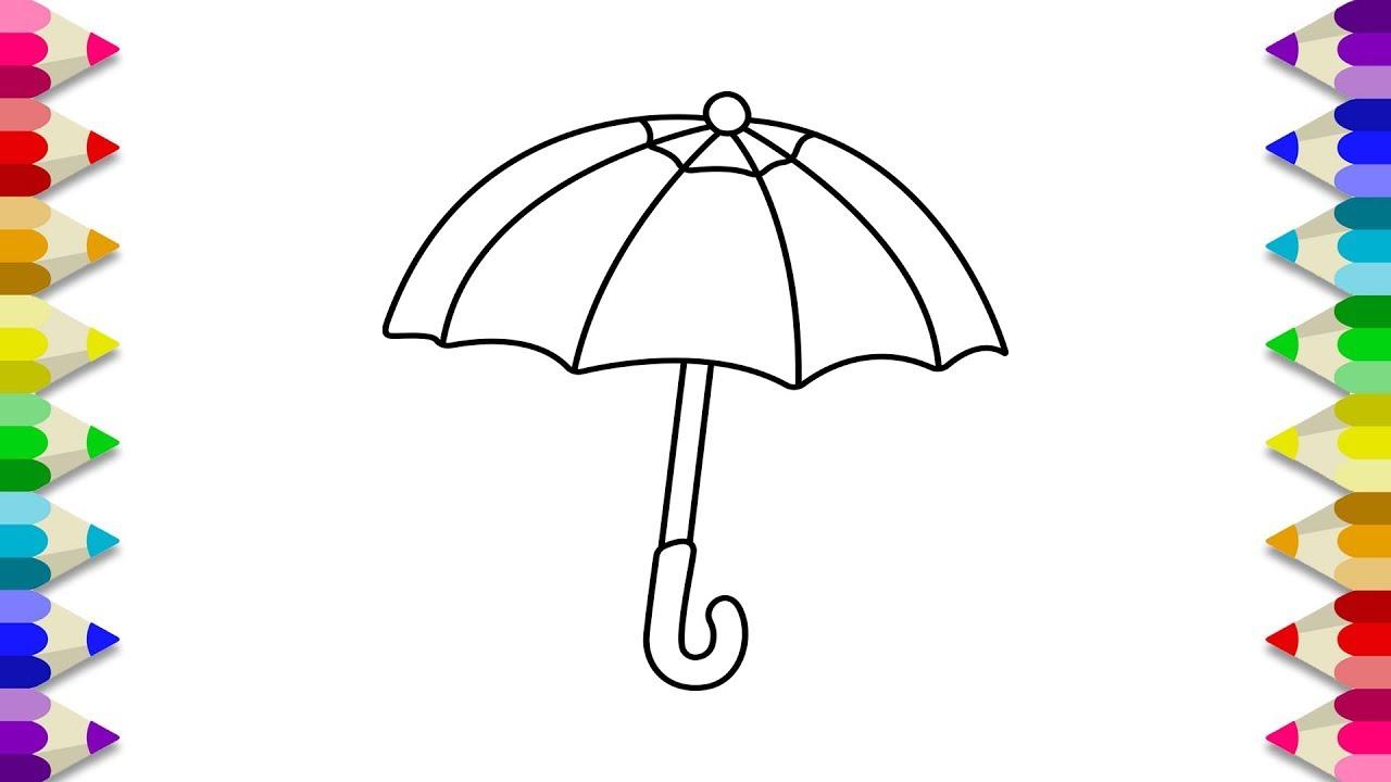 Umbrella Coloring Pages Umbrella Coloring Book For Kids Umbrella Coloring Page For Kids Youtube