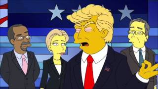 Watch The Simpsons Skewer the 2016 Election
