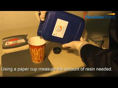 How to mix resin and catalyst
