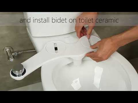 Self Cleaning Dual Nozzle Non Electric Mechanical Bidet Attachments Youtube