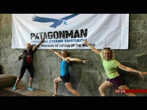 Louise Minchin - Patagonman Triathlon challenge (Chile) - BBC News - 10th December 2018