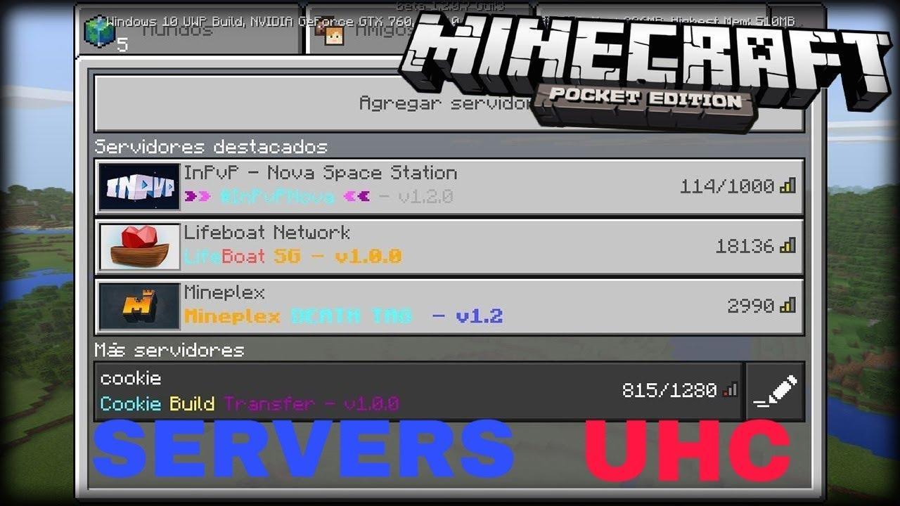 SERVER UHC BEDROCK - YouTube