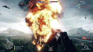 Battlefield 1 EPIC air ship explosion