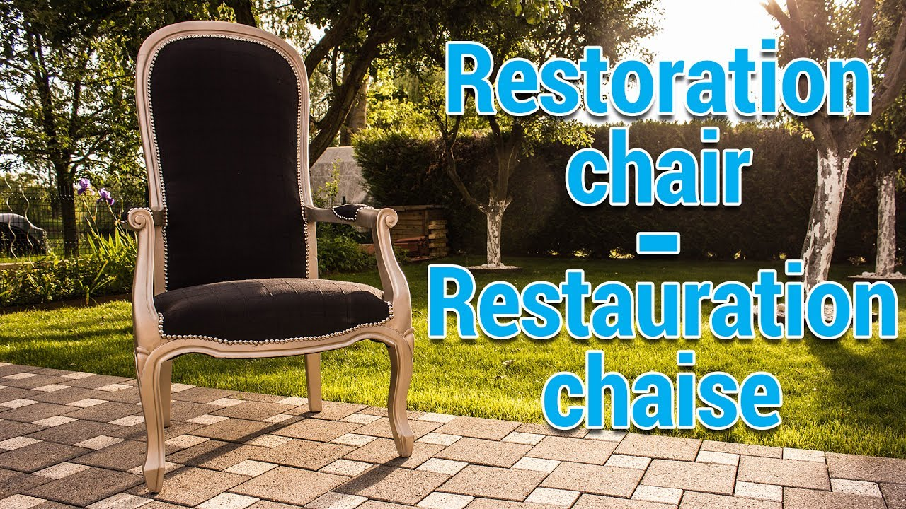 Diy restoration chair tuto restauration chaise fauteuil for Chaise voltaire