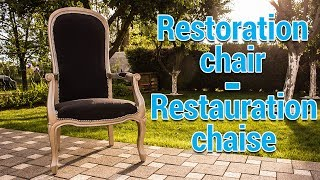 DIY Restoration chair - Tuto Restauration chaise fauteuil voltaire