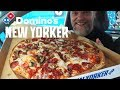 """New Domino's 16"""" New Yorker Pizza Review - THE BIG PEPPERONI, SAUSAGE & MUSHROOM"""