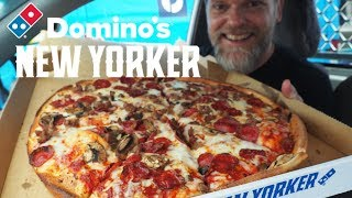 "New Domino's 16"" New Yorker Pizza Review - THE BIG PEPPERONI, SAUSAGE & MUSHROOM"
