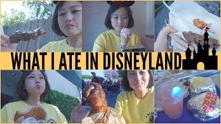[FOOD VLOG] What I ate in Disneyland! Turkey Leg+ Chimichanga + Star wars Burger + Skewers