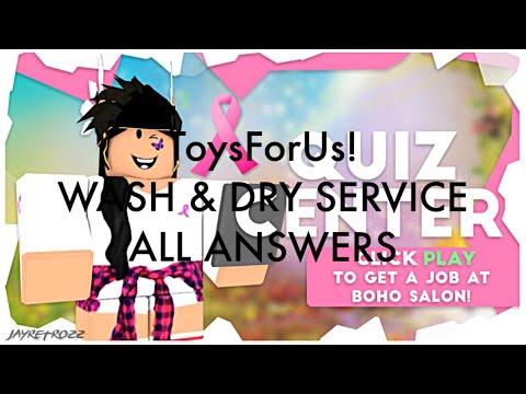 Roblox Boho Salon Wash Dry Service Job Quiz Test Application