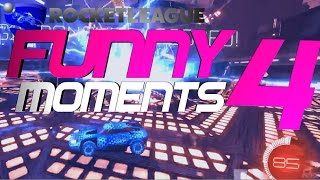ROCKET LEAGUE FUNNY MOMENTS 4 😆 (FUNNY REACTIONS, FAILS & WINS BY COMMUNITY & PROS!)