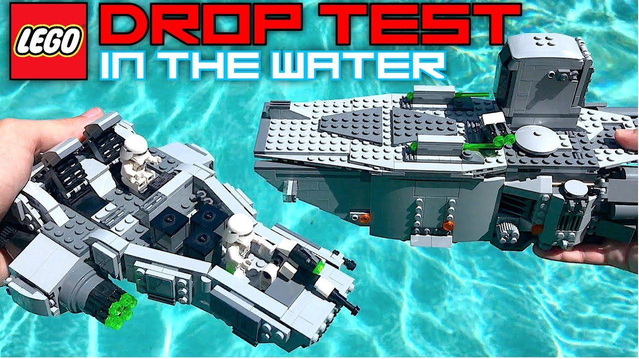 Drop Testing Lego Sets In The Pool Cool Lego Sets