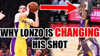 Why Lonzo Ball Is CHANGING His Shot In The NBA