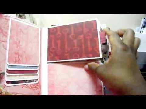 Rosewood mini scrapbook album