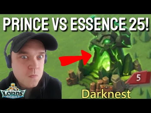 Prince Vs Level 25 Essence! - Lords Mobile