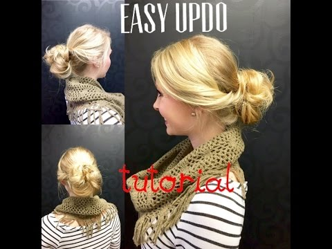 Easy Updo Tutorial   Featuring The Invisibobble   Whitney Evans ... 5d58fa62cb6