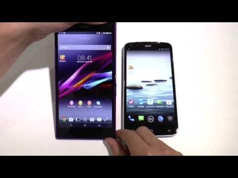 Acer Liquid S2 vs. Sony Xperia Z Ultra - Deutsch