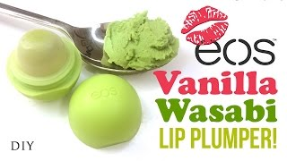 DIY EOS Wasabi Lip Plumper!! No Need For Kylie Jenner Lip Challenge