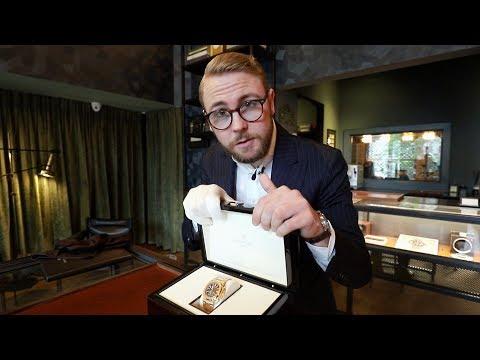 Unboxing van een rose gouden Patek Philippe Nautilus 5980 twv €140000