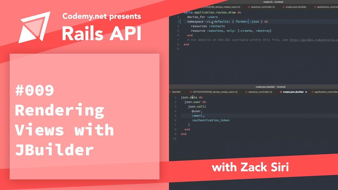 Rails API: Rendering Views with JBuilder - [009]