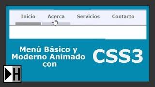 Como hacer un Menú Basico y Moderno con HTML5 y CSS3