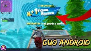 VICTORIA MAGISTRAL CON EL MEJOR DUO DE ANDROID | Fortnite Android