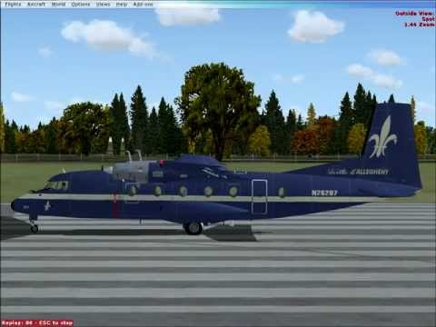 Allegheny Airlines Nord 262A (Flight Simulator FSX) departs Columbus Ohio