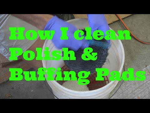 How I clean my polish and buffing pads