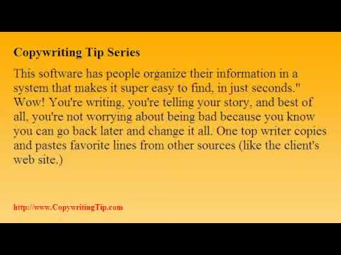 Copywriting Tip - How To Write Great Sales Letters