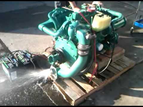 River City Boat Works Volvo Penta AD31 Turbo Diesel - YouTube