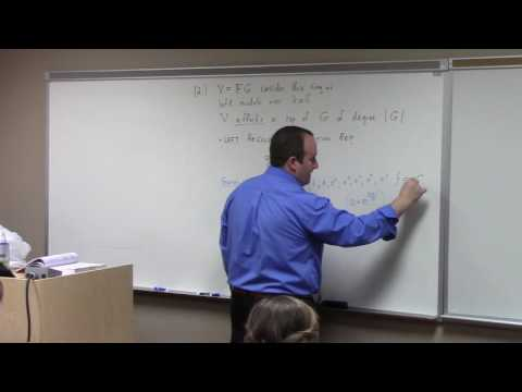 Abstract Algebra II: a bit of representation theory, 4-26-17