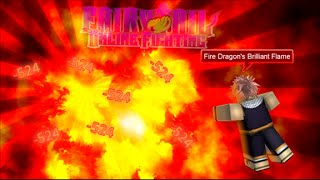 Roblox Fairy Tail online Fighting Rainbow Magic All Attacks