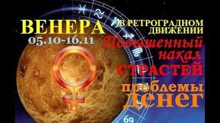 РЕТРОГРАДНАЯ ВЕНЕРА 05.10 -16.11. Шанс изменить отношения и материальную сферу к лучшему.