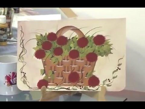 Como Pintar una Canasta de Mimbre con Flores - Hogar Tv  por Juan Gonzalo Angel