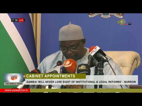 TWT: GAMBIA 'WILL NEVER LOSE SIGHT OF INSTITUTIONAL & LEGAL REFORMS' - BARROW