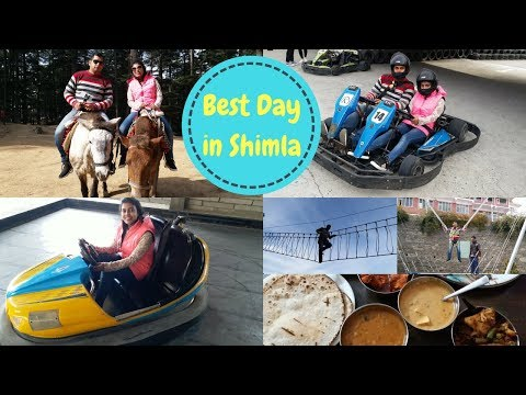 Anniversary Trip Day 3-Shimla || The Best Day Ever || Horse Riding,Bunjee Jumping,Go Karting & more