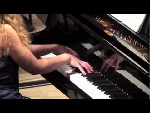 Veronika Shoot plays Stravinsky Concerto for Piano and Winds - movement 1