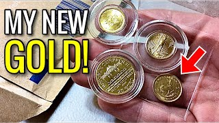 My New GOLD! (1/10oz Krugerrand Unboxing & Review) - Compared to Eagle, Maple Leaf, & Philharmonic