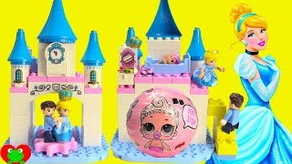 Disney Princess Cinderella's Castle Lego Duplo Build and LOL Doll Surprises