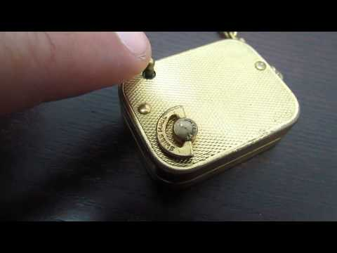 Vintage Hermes Reuge Ste Croix Music Box Pendant Key Chain Swiss