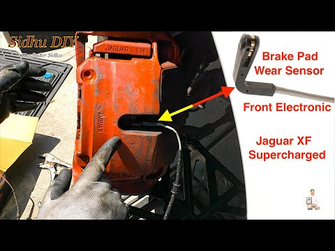 How To Install Front Electronic Brake Pad Wear Sensor on Jaguar XF Supercharged