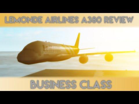 Roblox Lemonde Airlines A380 Flight (Business Class)
